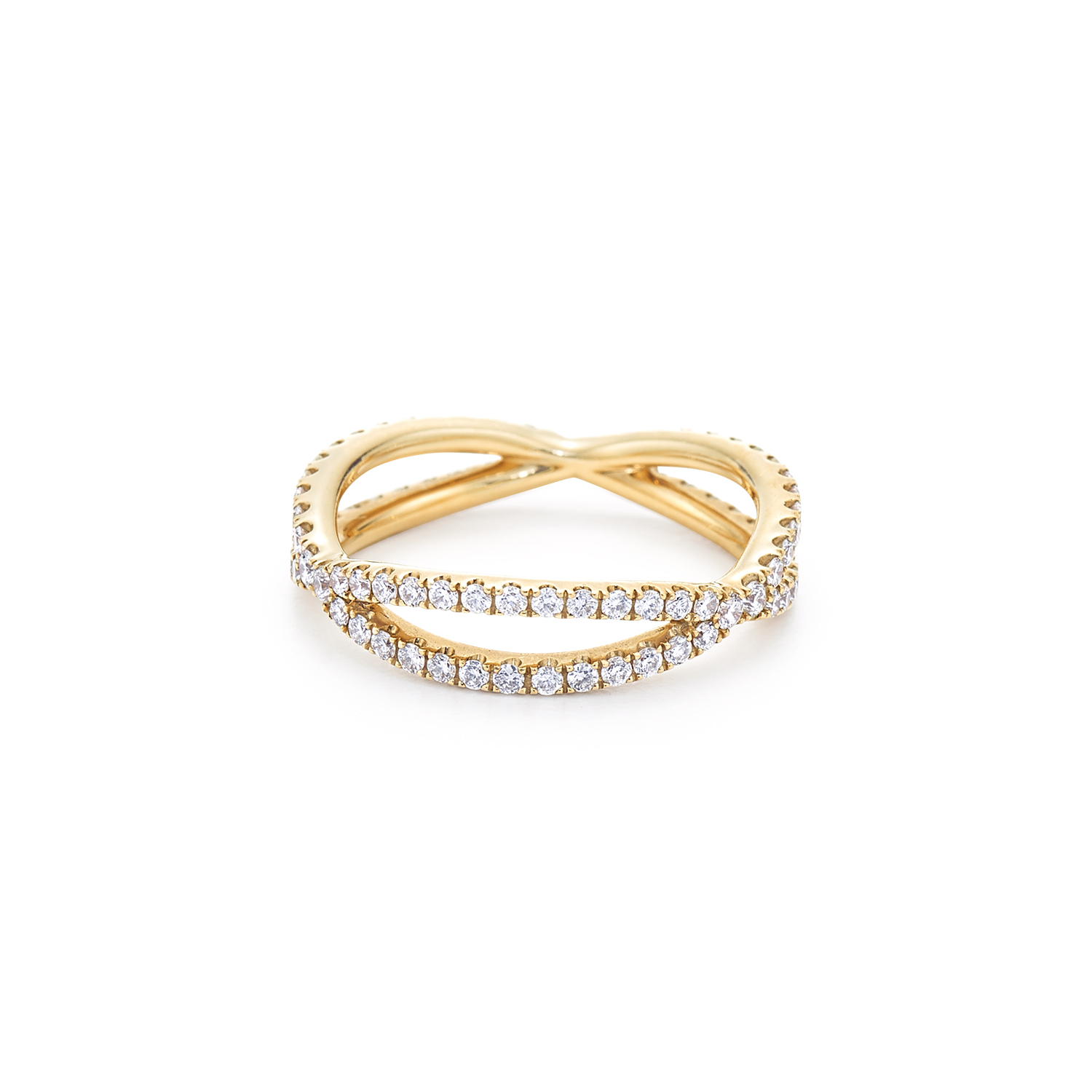 Diamond ring in 18k yellow gold. Also available in platinum and 18k ...