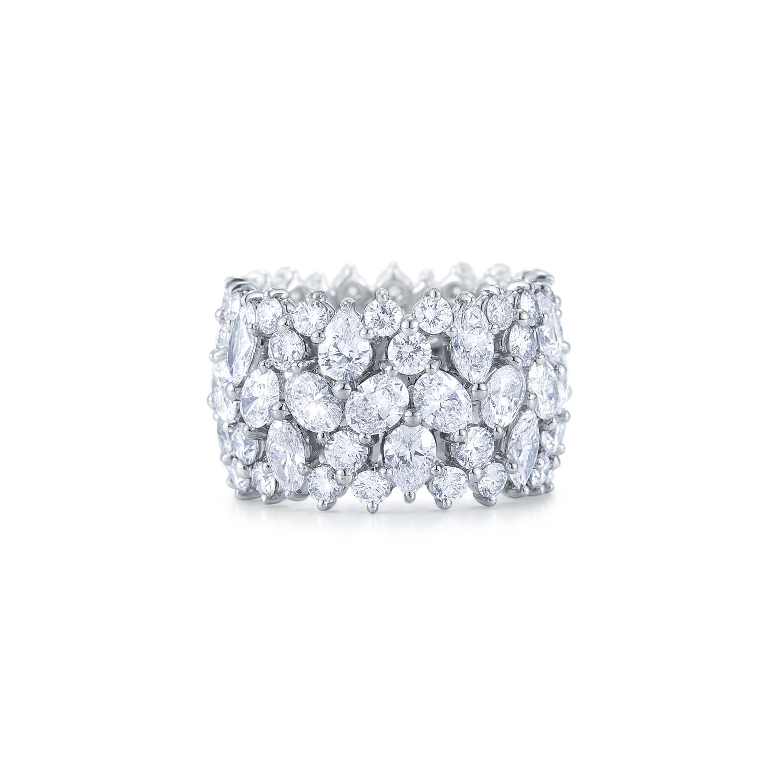 Fancy shape diamond cluster ring in Kwiat Wedding Ring style