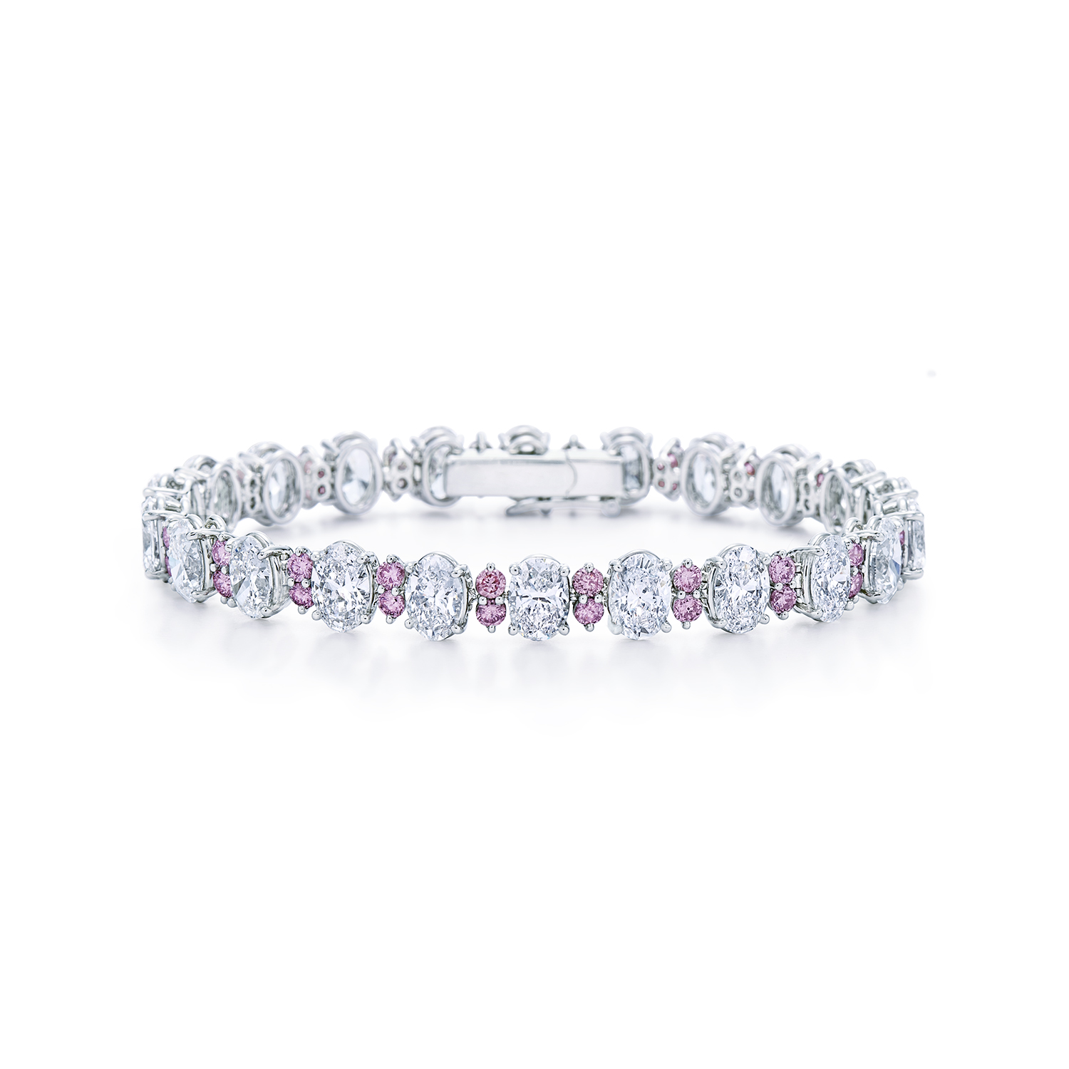 princess white pink bracelet and sapphire diamond in cut round image unique gold
