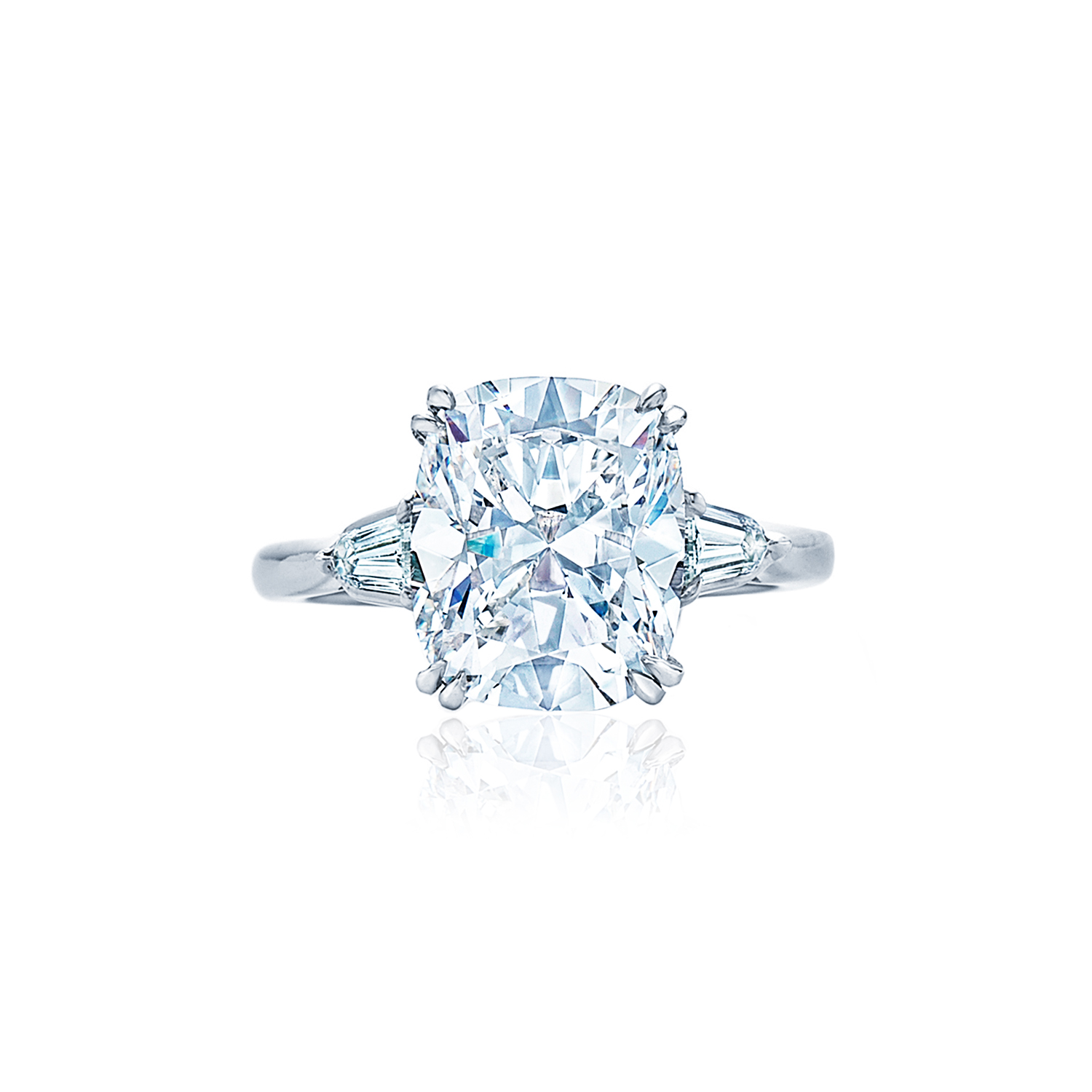 cut rings solitaire rose style jewelry in diamond kwiat the product engagement ring cushion setting gold