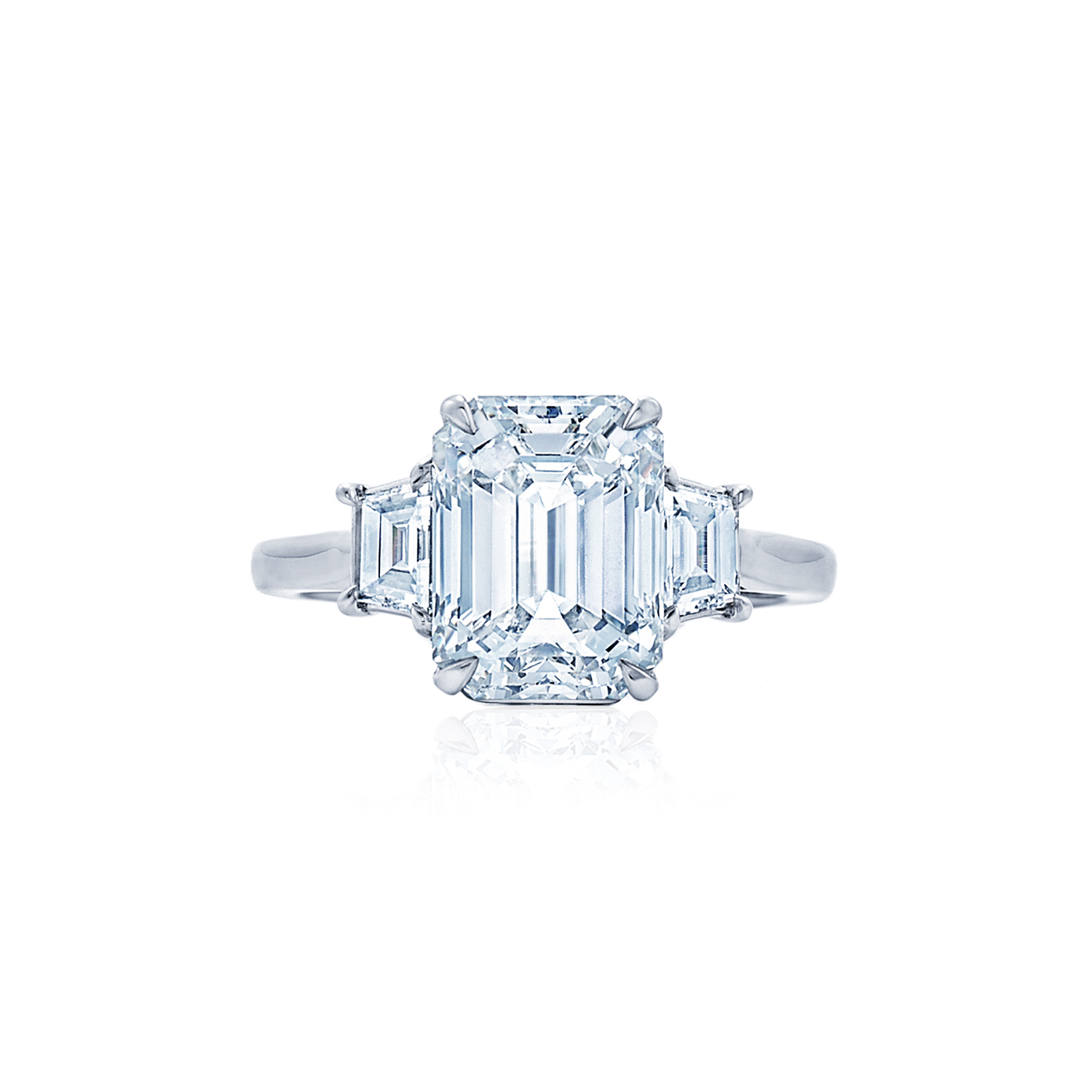 solitaire platinum rings plat cut with jewelry the kwiat side asscher ring style set in engagement diamond stones