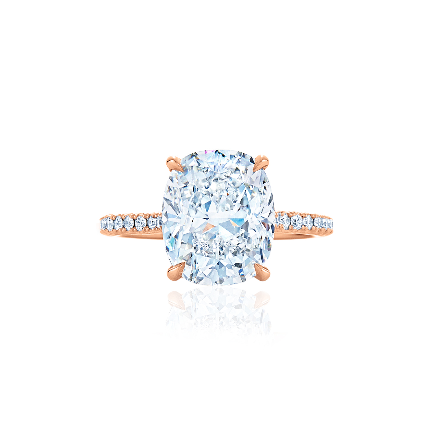 itm loading ct f cut split cushion ring cusion gold is engagement image yellow halo shank diamond