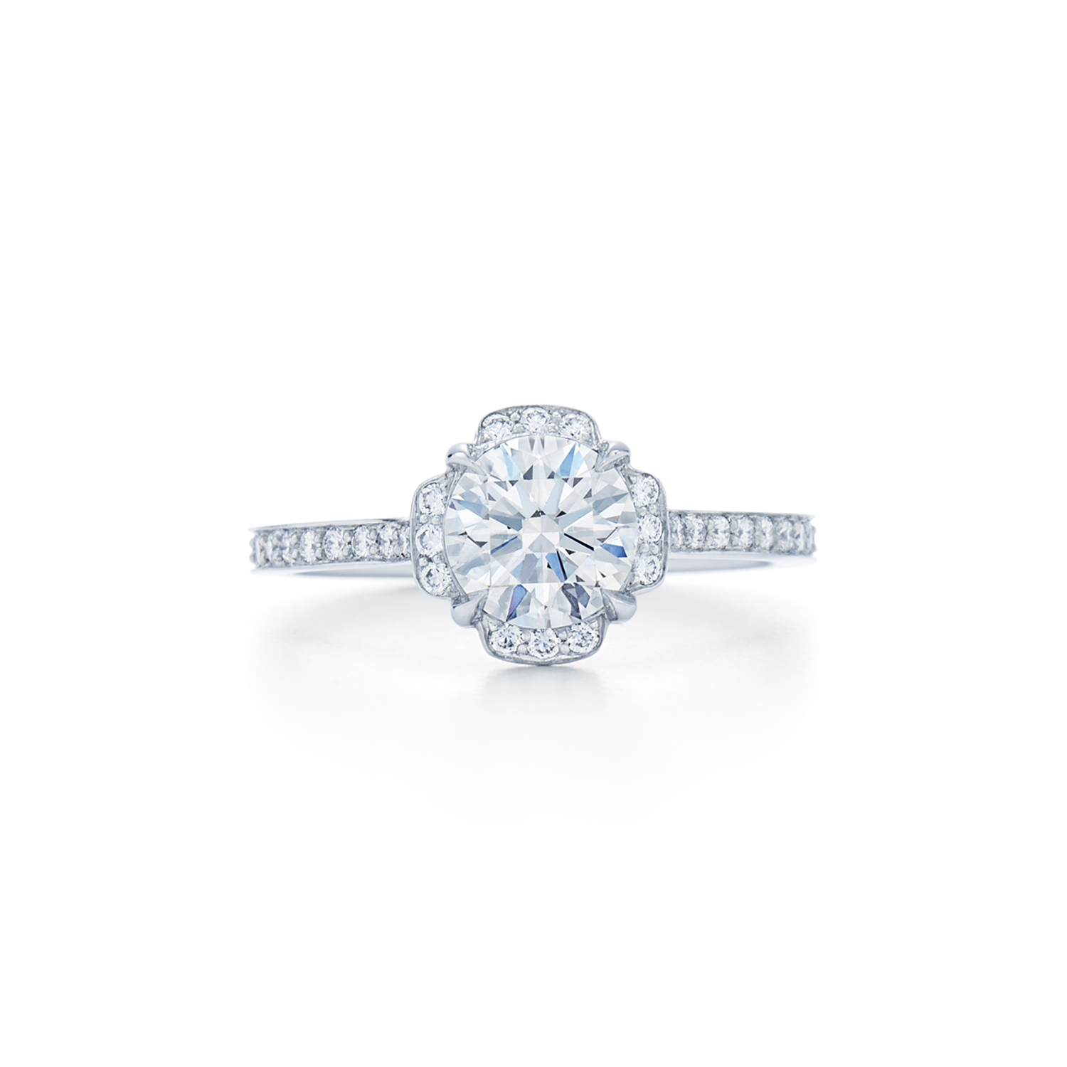 setting cushion diamond style solitaire jewelry gold in kwiat rings cut engagement ring the product rose