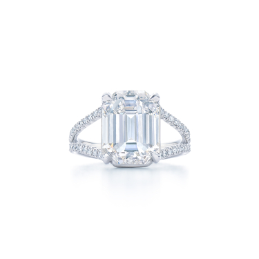 emerald cut ring with tapered baguette side stones