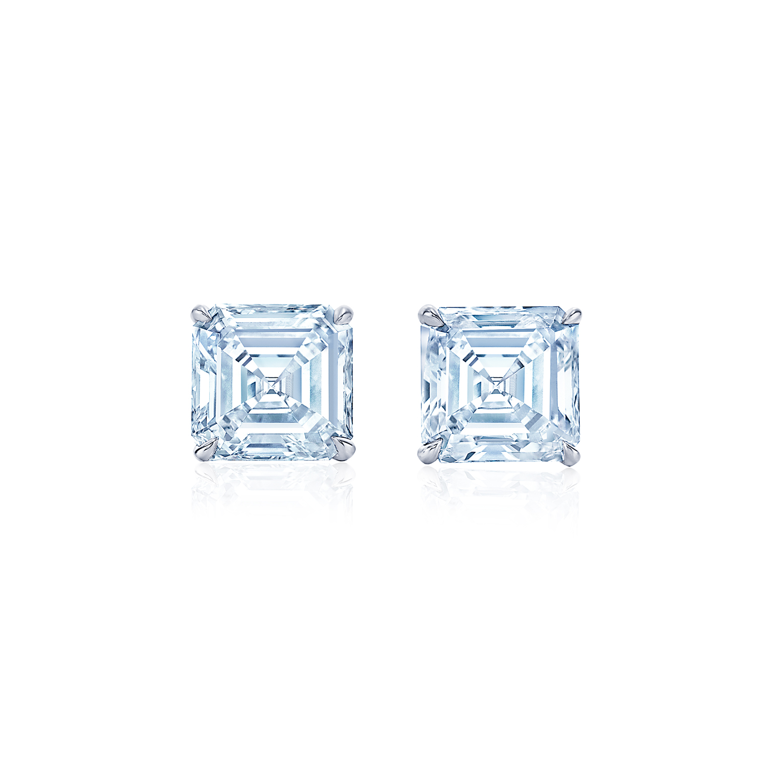 h stud in ctw carat white tw princess square i earrings gold diamond cut