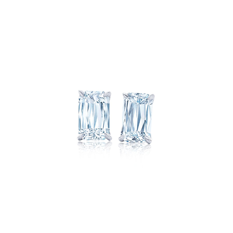 Ashoka Diamond Earrings Stud In Platinum