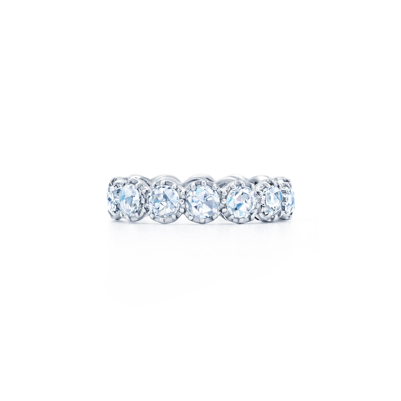 Rose cut diamond band ring in 18k white gold Kwiat Vintage Ring