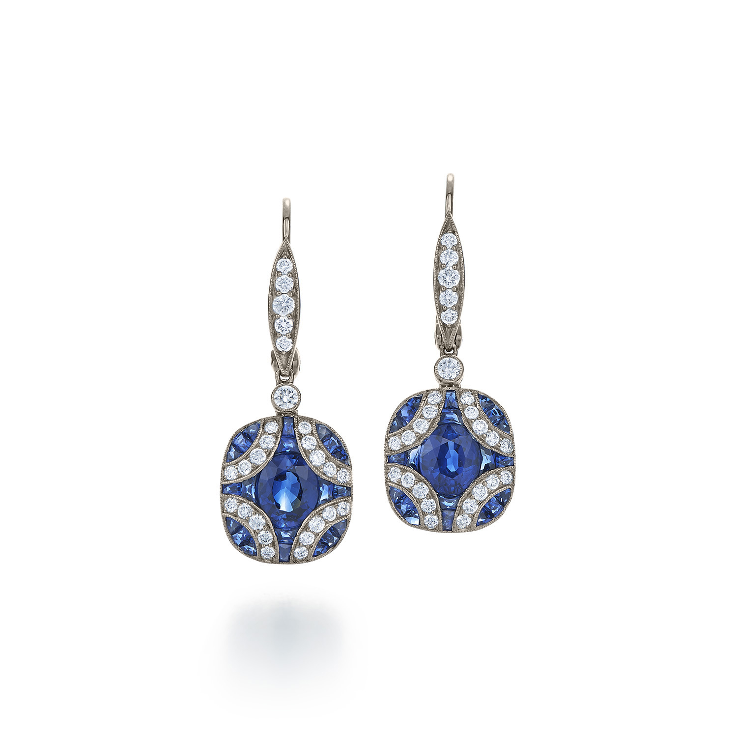 earrings vintage gold stud kwiat collection white and jewelry style in sapphire diamond