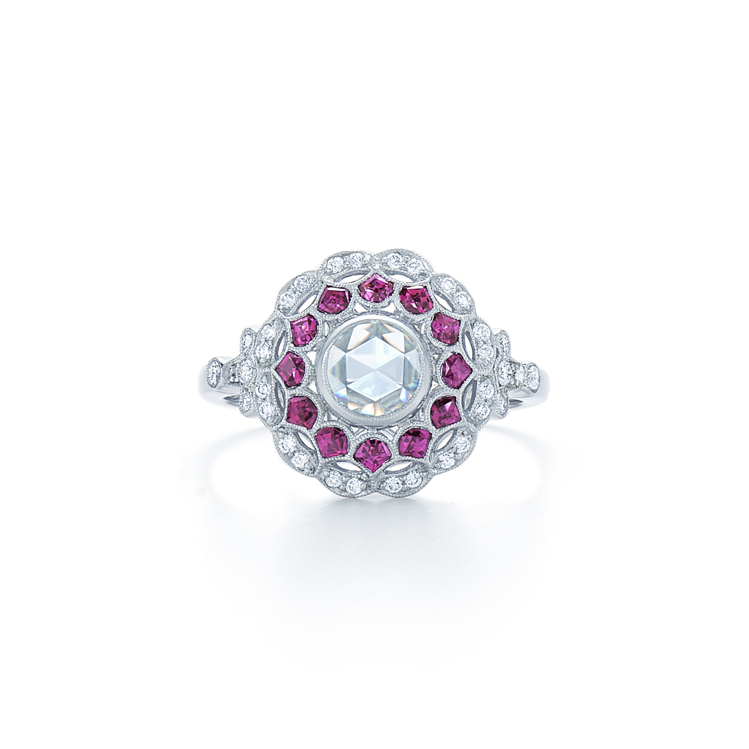 Kwiat Vintage Ring Diamond And Ruby