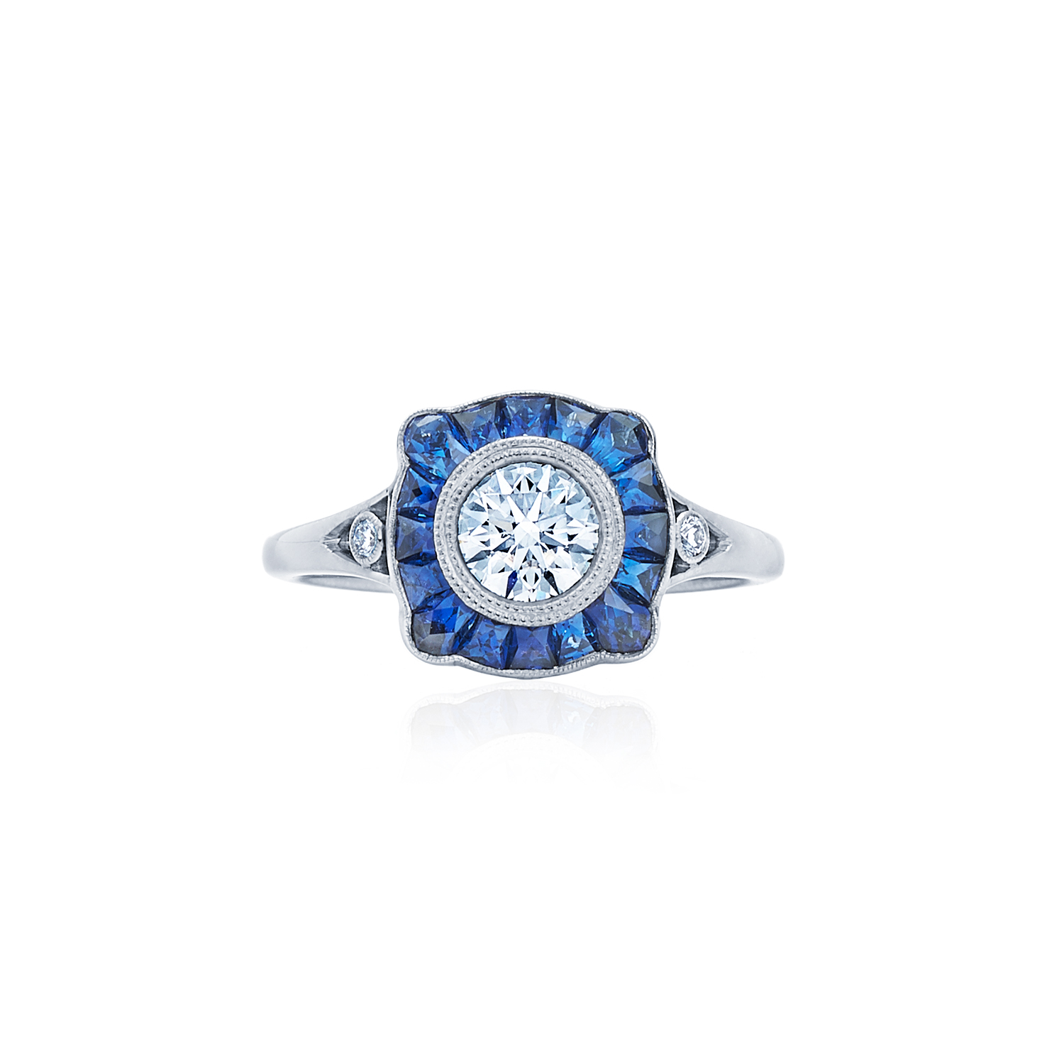 rings style solitaire in plat kwiat platinum ring cushion with stones engagement set diamond cut jewelry bullet side