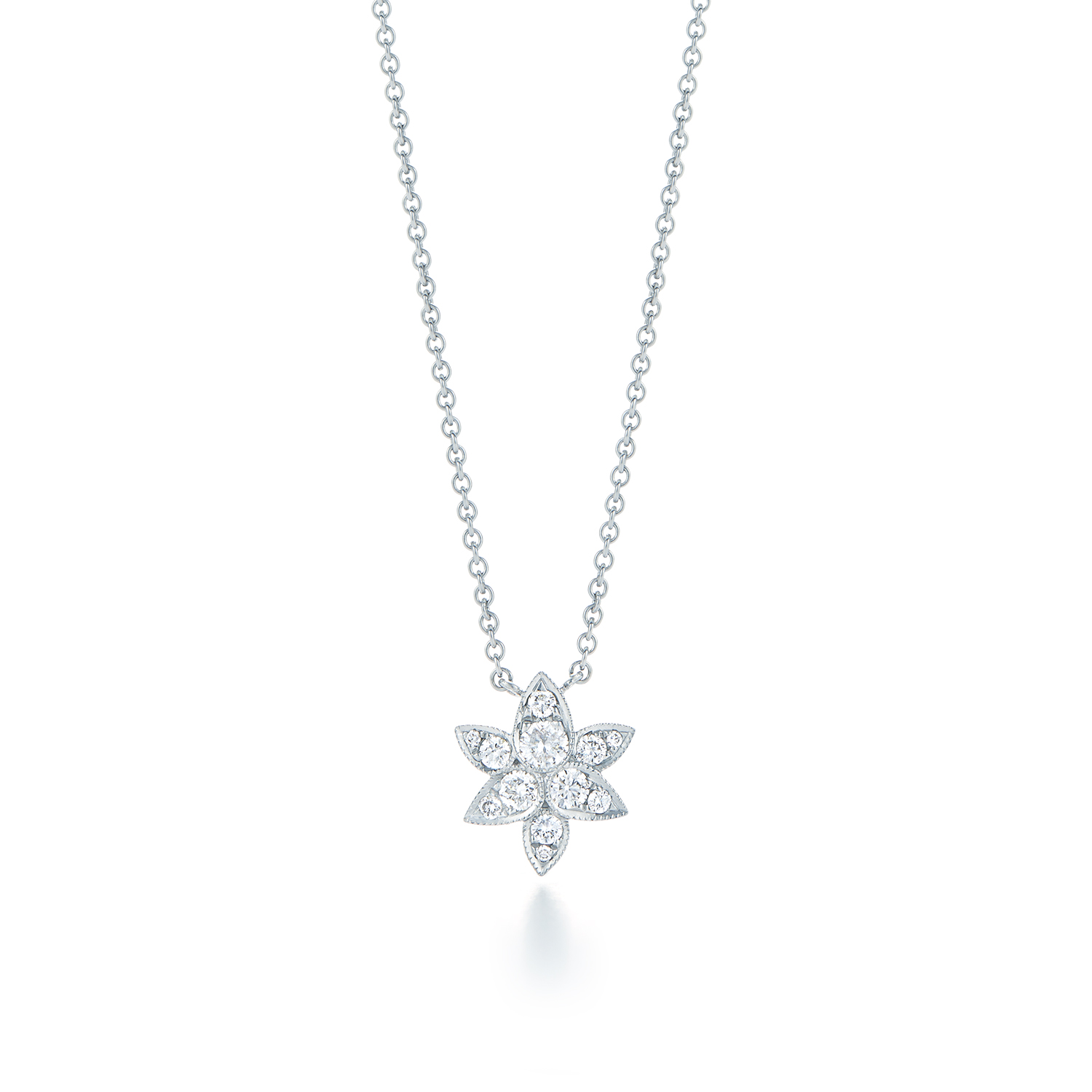 Diamond pendant in 18k white kwiat sunburst pendant style 9481 kwiat sunburst pendant aloadofball Images
