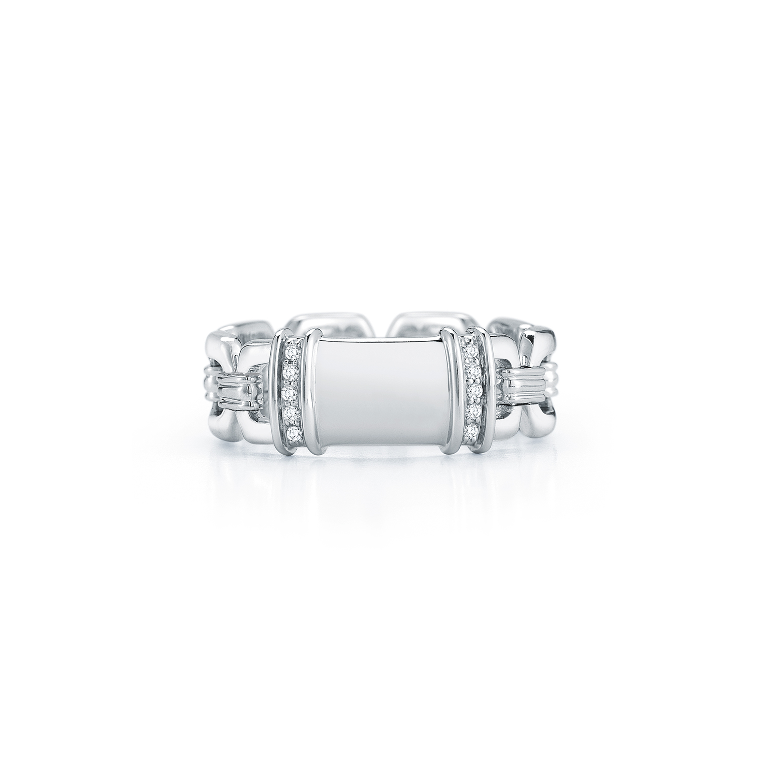 solitaire with style engagement split diamond platinum set pave kwiat band emerald cut ring jewelry plat